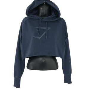 Gymshark Cropped Hoodie Blue Women's Size Small